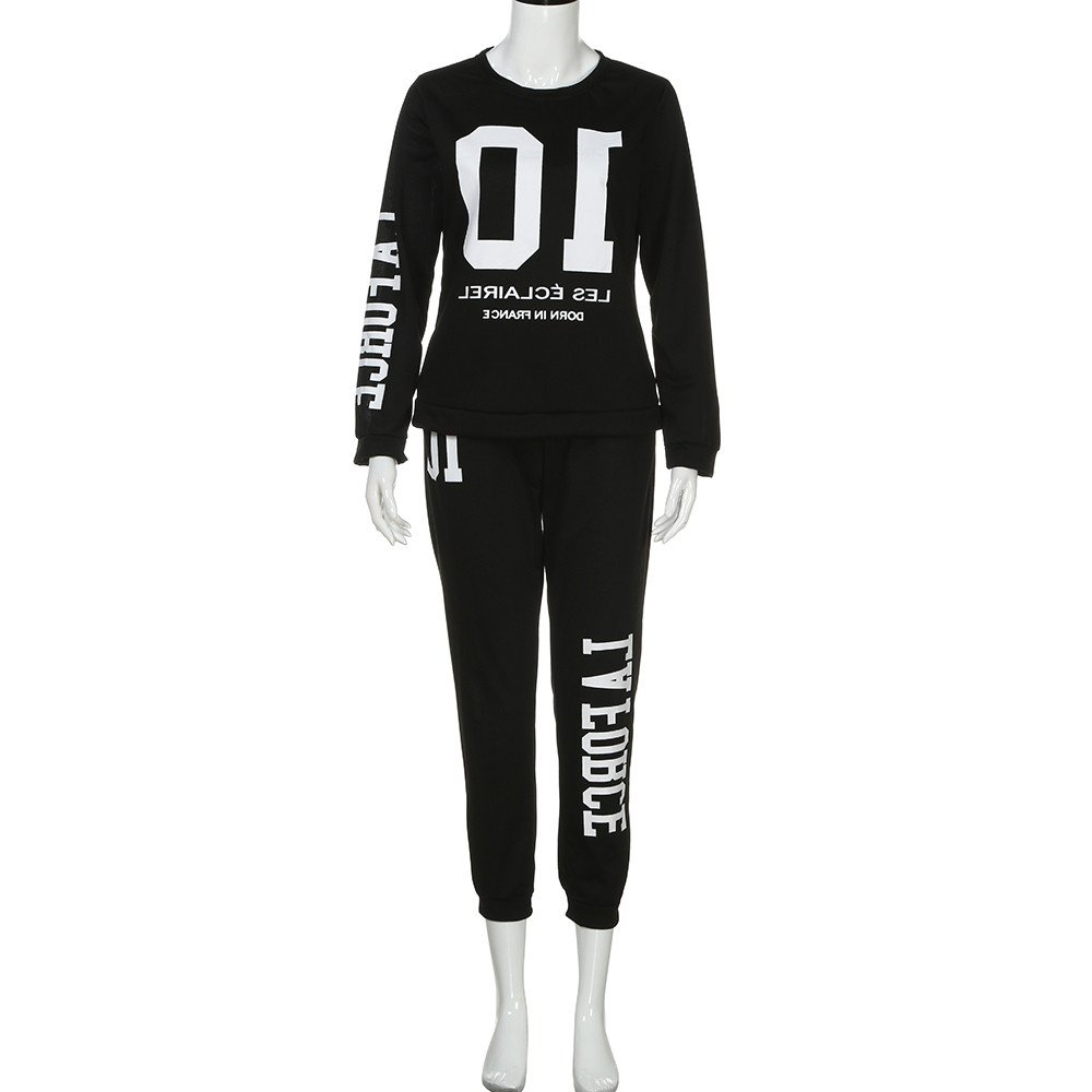 e716bfcccefb05 Two Piece Outfits for Women-Long Sleeve Pullover Tops Long Pants Jogging  Gym Yoga Sweat Suits Set Tracksuit at Amazon Women s Clothing store