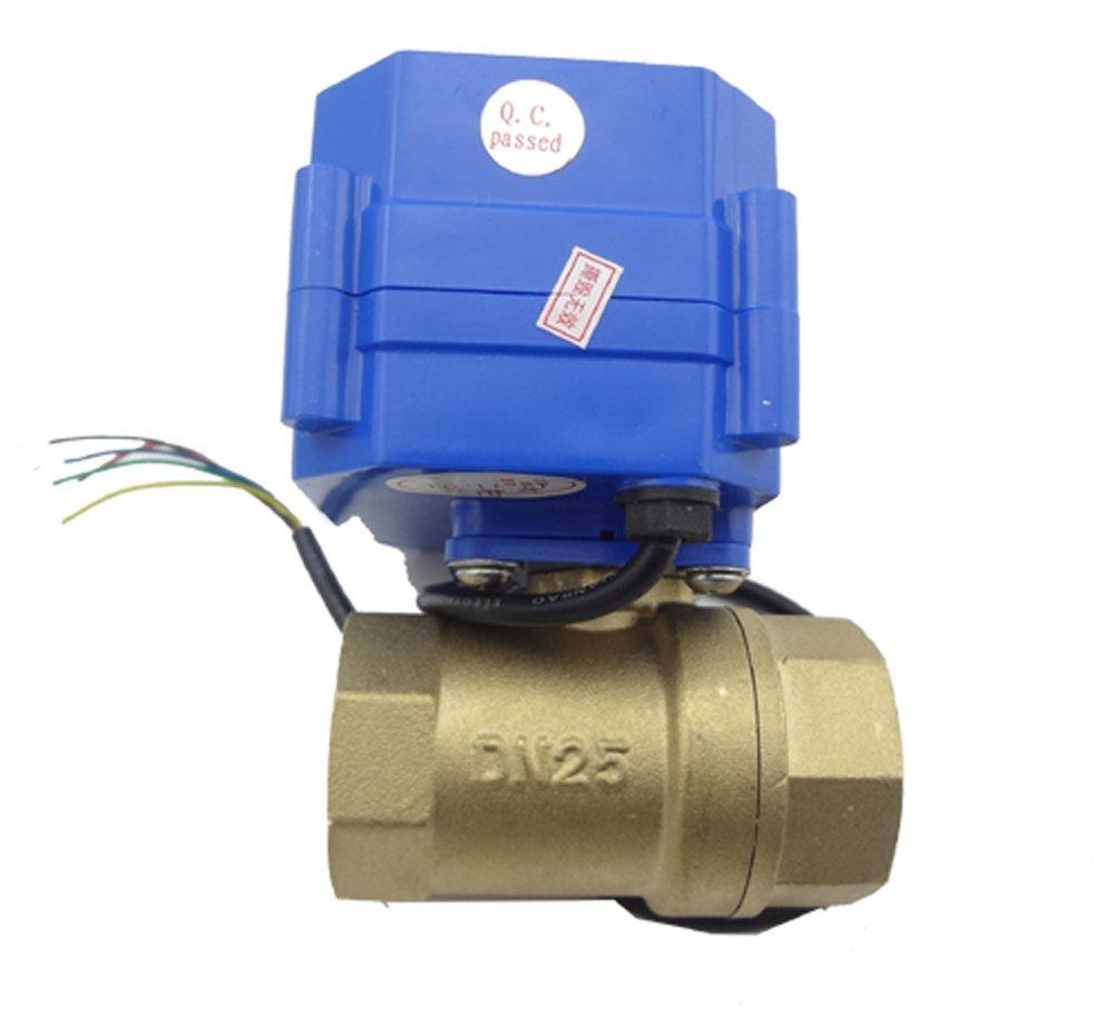 MISOL Motorized Ball Valve, 220v, 2 way, G1' DN25 (reduce port), electrical valve,motorized valve/valvola a sfera motorizzata/elettrovalvola/valvola a sfera elettrica/valvola motorizzata G1 DN25 (reduce port)