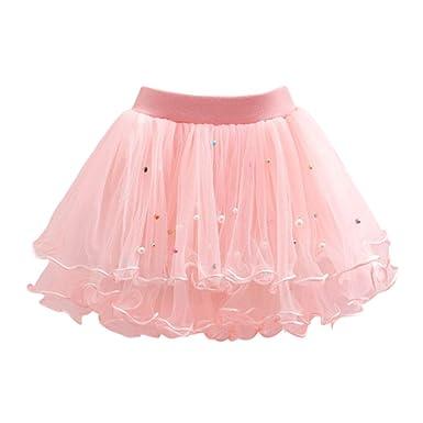 YFCH - Falda - Plisado - para niña Rosa 2 años: Amazon.es: Ropa y ...
