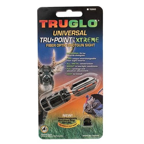 Truglo Tru-Point Xtreme Deer/Trky Sight Universal, Red/Green (Rifle Sights Remington 870)