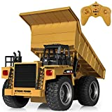 SGILE RC Remote Control Truck Toy, Full Function Alloy Construction Vehicle for Kids, Medium