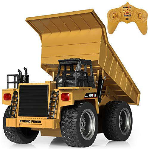 SGILE RC Remote Control Truck Toy, Full Function Alloy Construction Vehicle for Kids, Small (Dump Truck Remote Control)