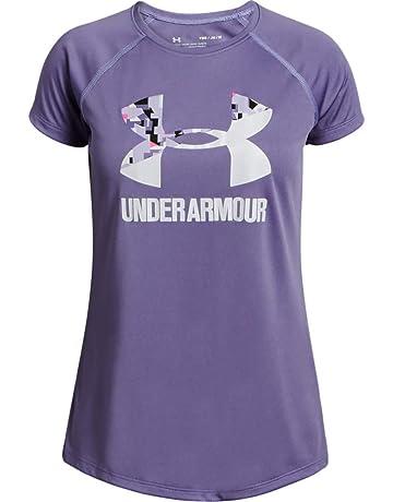 75688e8eb Under Armour Big Logo tee Solid SS Camiseta, Niñas