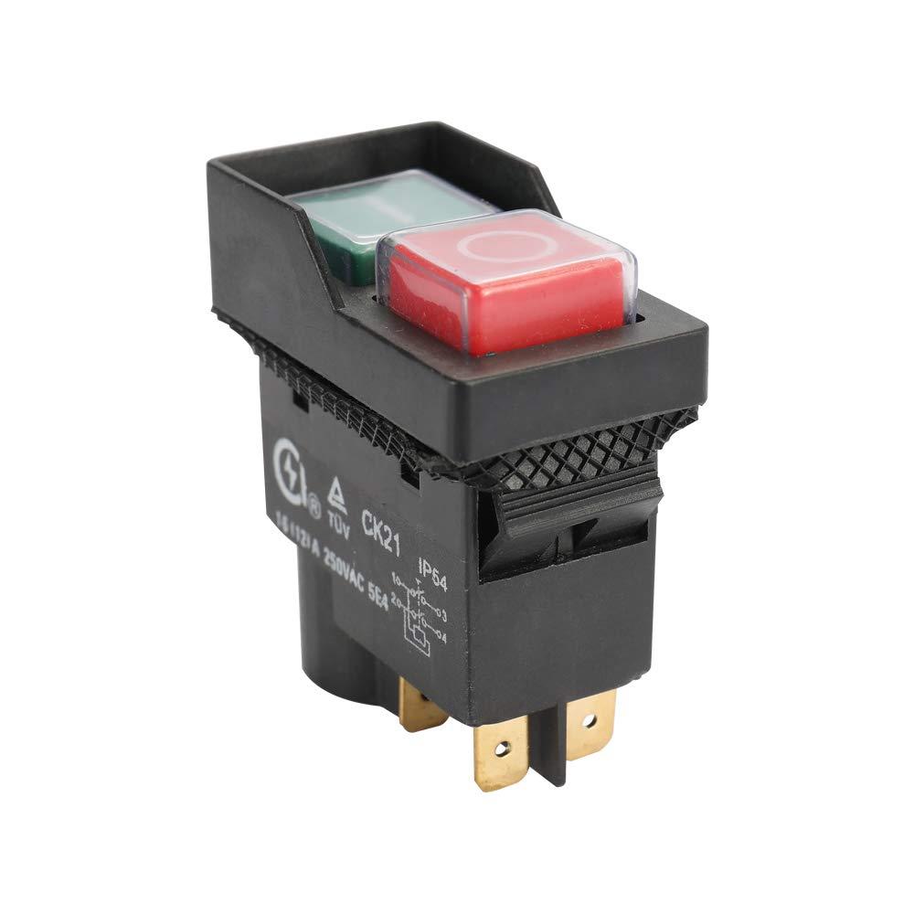 Festnight 250V Universal CK21B 250V Interrupteur De S/écurit/é Darr/êt Darr/êt Durgence S/écuris/é Couper Killer Interrupteurs Imperm/éables Et Poussi/ères
