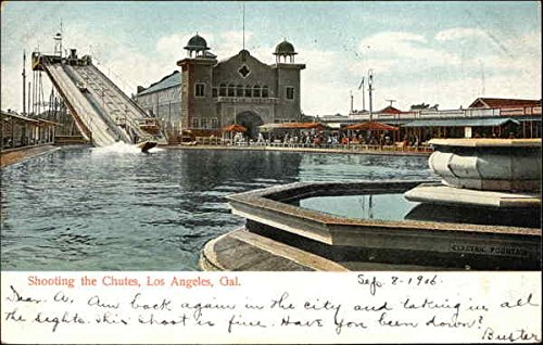 Shooting the Chutes Los Angeles, California Original Vintage Postcard