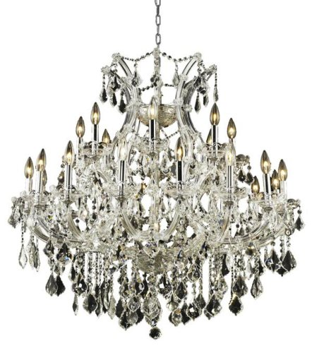 (Elegant Lighting Theresa Collection 25-Light Hanging Fixture Royal Cut Crystal with Chrome Finish )