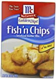 McCormick Golden Dipt Fish 'n Chips Seafood Batter Mix, 10-Ounce Boxes (Pack of 12)