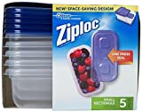 ziplock 2 cup - Ziploc One Press Seal Small Rectangle Container - 5 ct