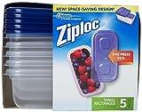 ziploc food storage - Ziploc One Press Seal Small Rectangle Container - 5 ct