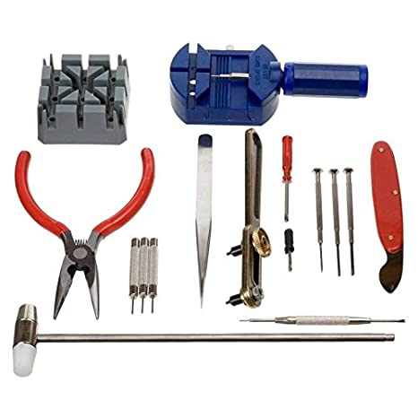 57b736af2 Herramientas de relojero - relojería reparación de relojes correas 16 pcs:  Amazon.es: Bricolaje y herramientas