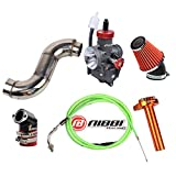 NIBBI Racing Carb Carburetor PE 28mm Kit Jet Flat Slide Set Filter Intake Manifold Throttle cable Hand Grip CNC Motorcycle Scooter GY6 125CC Motor 152QMI 157QMJ