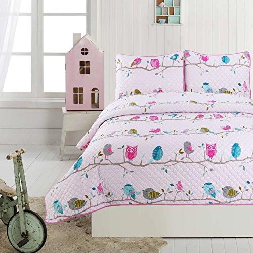 Little Maisy Quilt Set Bedspread Elephants, Birds, Children Kids Tweens