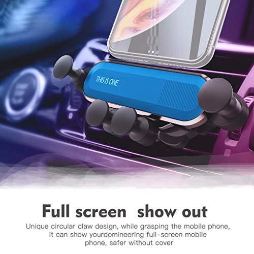 m·kvfa Universal Car Mount Holder Gravity Bracket for Cell Phones Smartphone Handsfree Shockproof Design Cell Phone Car Mount Coaster Air Jacket Liner