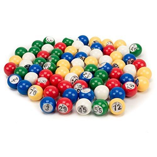 GSEゲーム&スポーツ7/8インチプレミアムマルチカラーBingo Balls (# 1–75、プラスチック交換用Bingo Ballセットwith Easy Readウィンドウ。GREAT for Small Bingo Cageの商品画像