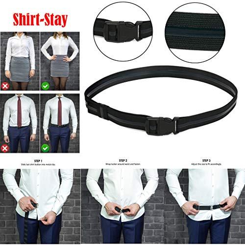 1Pcs Shirt-Stay Best Shirt Stays Black Tuck It Belt Shirt Tucked Mens Shirt S SL