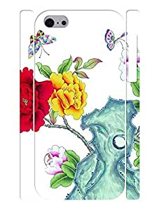 Designed Flowers and Birds Design Hard Protective Case Cover for Iphone 5C