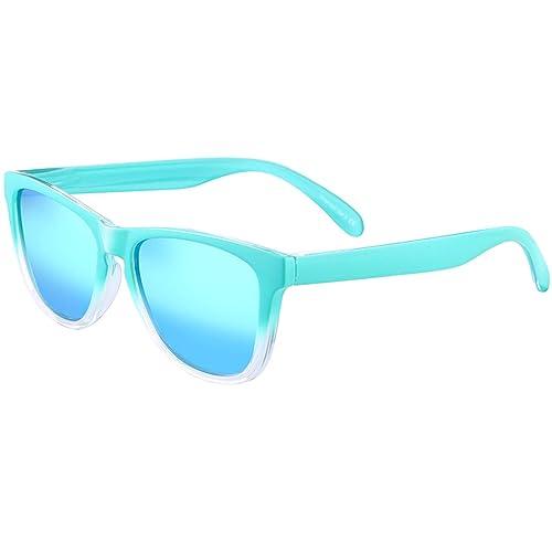 Polarizadas Gafas de Sol Azul Hombre Mujer – FEIDU FD 0617 (2017 Nuevo Diseño) Proteción UV 400 Para Hacer Ejercicio Para Hombre y Mujer con Caja,Garantería de Devolución de Dinero de 30 Días