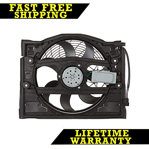 AC A/C CONDENSER COOLING FAN FOR BMW FITS 320 323 325 328 330 E46 BM3020100 ()