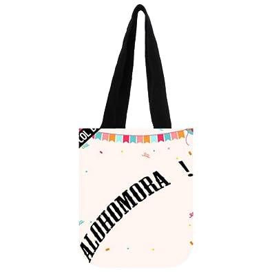 45565a5a5721 Amazon.com: COL DOM Tote Bag Custom Alohomora Tote Bag Shipping Bag ...