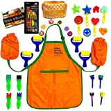 Cre8tivePick kids art craft fun painting drawing tools for kids, waterproof apron with sleeves ebook...