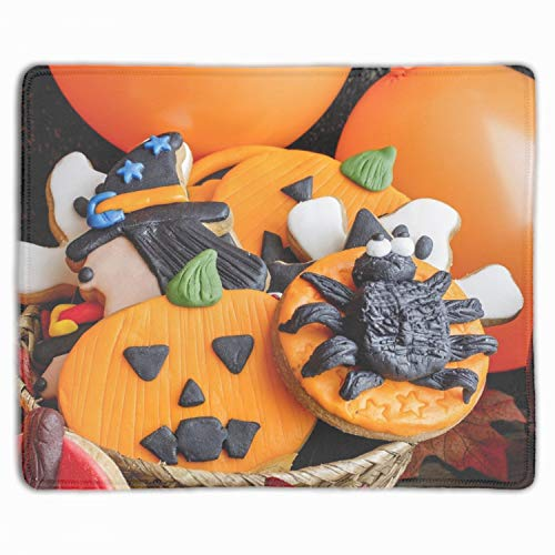 Holiday Halloween Biscuit Mouse Pad Wrist Support and Non Slip Keyboard for Computer, Laptop, Mac, Gaming & Office - Durable & Comfortable for Easy Typing & Pain Relief ()