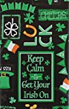 #7: St. Patrick's Day Get Your Irish On Vinyl Flannel Back Tablecloth (60
