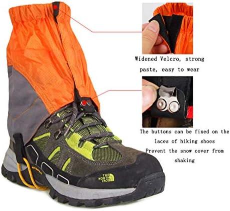GzxLaY Waterproof Low Ankle Gaiters for Hiking,Snow-Proof Waterproof Ultra-Light Gaiters,for Hiking Walking Cycling Fishing Desert Camping Climbing