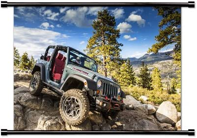 Jeep Wrangler Poster Print Wall Art of the History and Evolution YJ TJ JK JL