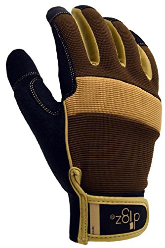 DIGZ Men's Heavy Duty Garden Gloves with Touchscreen Compatible fingertips. Washable, Large
