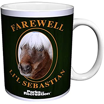 Amazon.com: Parks And Recreation Li'l Sebastian 15 oz White ...