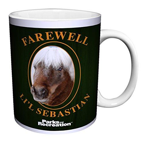 Parks and Recreation Farewell Li'l Lil Sebastian Workplace Comedy TV Television Show Ceramic Gift Coffee (Tea, Cocoa) 11 Oz. Mug