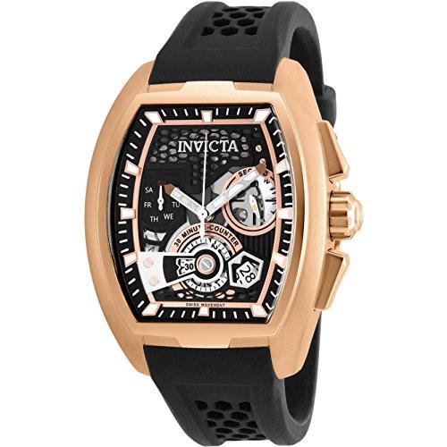 Invicta Men's 26400 S1 Rally Quartz Multifunction Black, Rose Gold Dial Watch