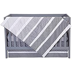 Trend Lab Ombre Gray Boy's 3 Piece Crib Bedding Set
