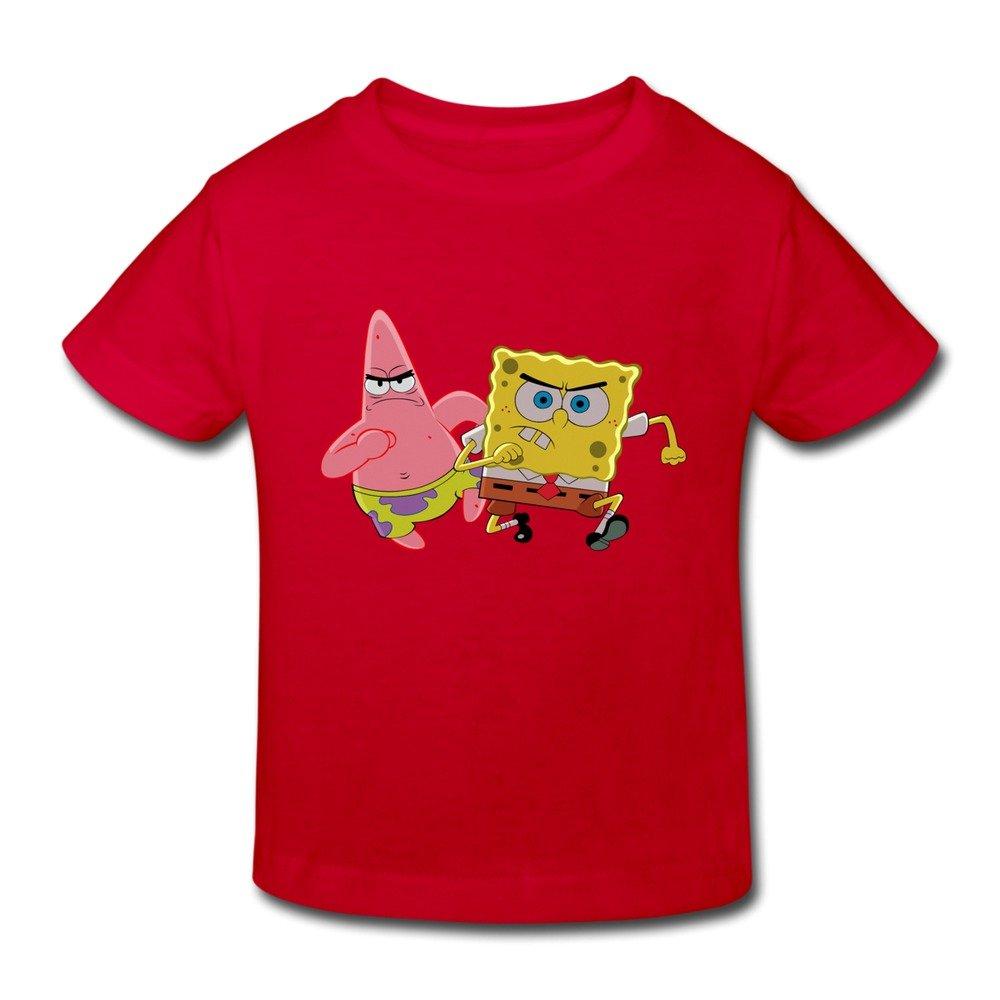 Age 2-6 Kids SpongeBob SquarePants Little Boy's And Girl's T Shirt