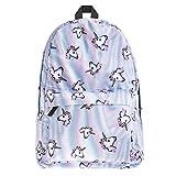 Summer style 3d unicorn printing backpack for school Teenager girls boys children kids school laptop bags travel backpack (unicorn)