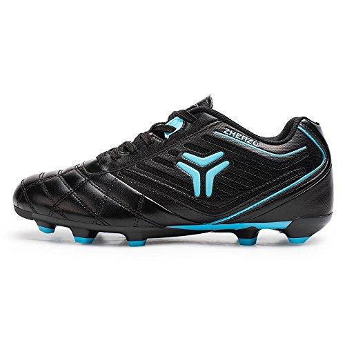 Xing Lin Fußballschuhe Fußball Schuhe Männer Und Frauen Gebrochen Nägel Fg/Ag Kunstrasen Erwachsenenbildung Schuhe Studenten Superleicht Atmungsaktiv Fußball Schuhe Kinder Black blue