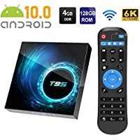 T95 6K Smart TV Box Android 10.0 Allwinner H616 Quad Cord 4GB 128GB 2.4G/5G Dual WIFI Bluetooth H.265 6K TV Box