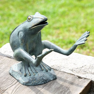 SPI Home 33587 Leaping Garden Frog Sculpture