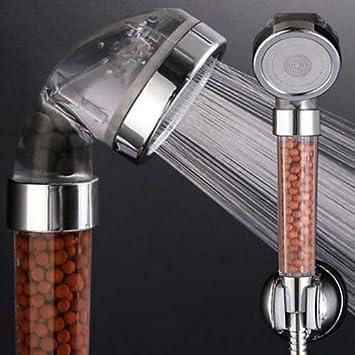 Impermeabilización magnético grapas Triple Filtro Agua Presión Rising ducha: Amazon.es: Hogar