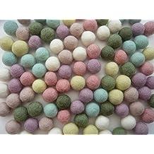 Heidifeathers Handmade Felt Balls - Choose The Size And Mix (1cm Pastels)
