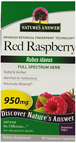 (Nature's Answer Red Raspberry Leaf Vegetarian Capsules, 90-Count)