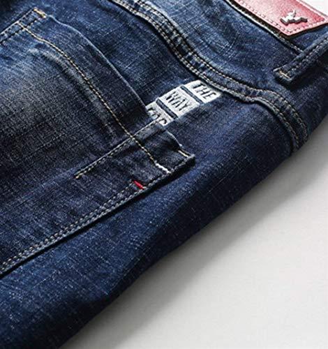 Elástica Pantalones Skinny Modernos Cómodos De De Nne Pantalones Jeans Moda Negro De Mezclilla Verano Los Ufige Pantalones Hombres Transpirable Hombres Casuales Los IxZ0wxqY6