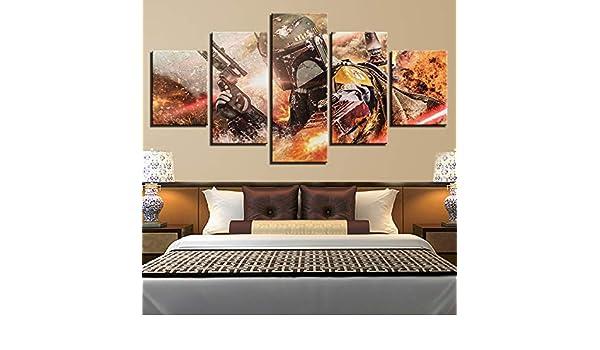 mmwin Lienzo HD Imprime la Decoración del Hogar 5 Unidades Arte de ...