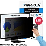 Monitor Privacy Screen 19' - Info Protection for Desktop Computer Security - Anti-Glare, Anti-Scratch, Blocks 96% UV - Matte or Gloss Finish Privacy Filter Protector - 16:10 by Adaptix (APS19.0W)