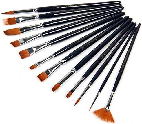 水彩 個入り水彩ブラシのペン美術用品をペイントブラシバラエティスタイルショートロッドオイルアクリル絵画ブラシセットナイロンヘアペ
