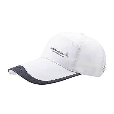 Algodón Para Hombre Gorras De Ngern Sombrero Béisbol Outdoor Brim ...