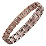 VITEROU Womens Magnetic Pure Copper Therapy Bracelet with Healing Magnets for Arthritis Pain Relief,3500 Gauss