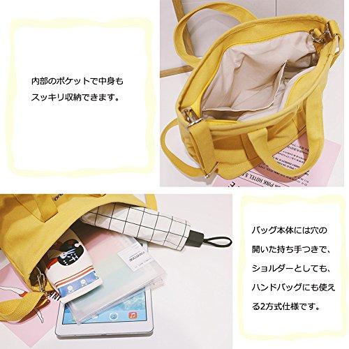 1c964cde3527d1 安い YJWAN キャンバス バッグ ショルダー バッグ ハンドバッグ レディース 多機能 多用途2way 人気 可愛い 帆布