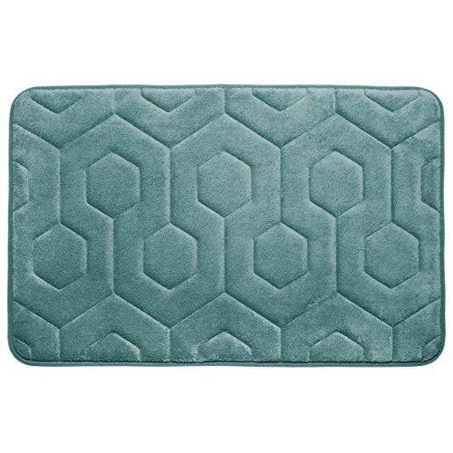 "Bounce Comfort Hexagon Memory Foam Bath Mat, 20 by 34"", Marine Blue -  YMF Carpets Inc., YMB004340"