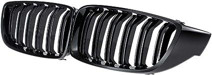 Desconocido Rejillas de Doble Puente Delanteras Parrilla Serie 4 F32 F33 F82 M4 13-17 Color Negro Brillante F36 F83 14-17